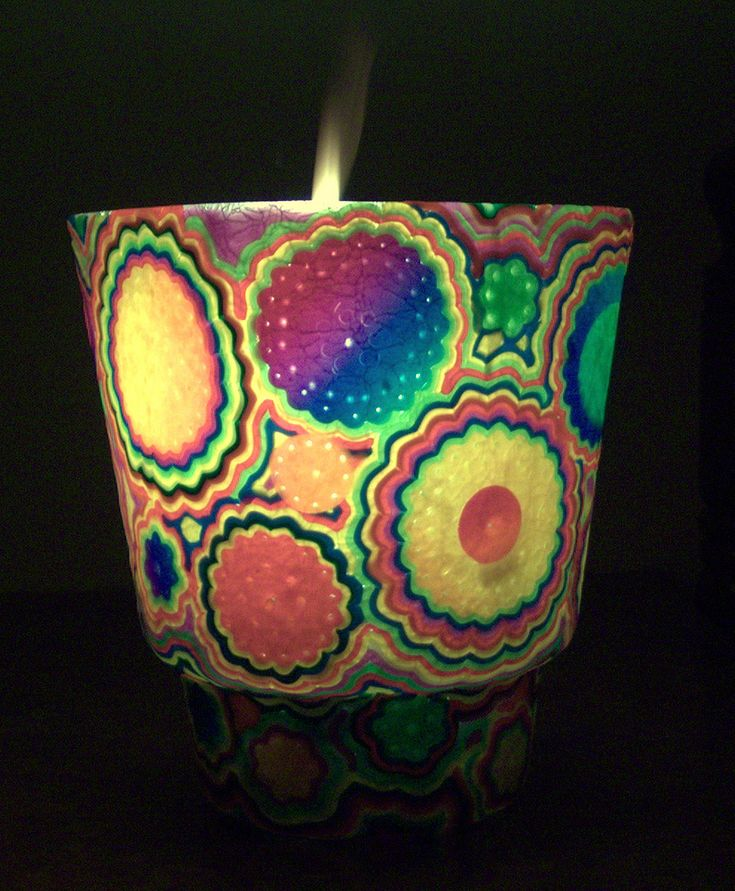 https://flic.kr/p/hC8EG5 | Handmade translucent polymer clay candle