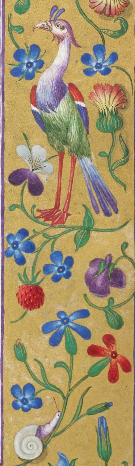 Border------Book of Hours, Use of Rome (the 'Hours of Bonaparte Ghislieri', formerly known as 'The Albani Hours') Origin	Italy, N. (Bologna) Date	c. 1500 Language	Latin
