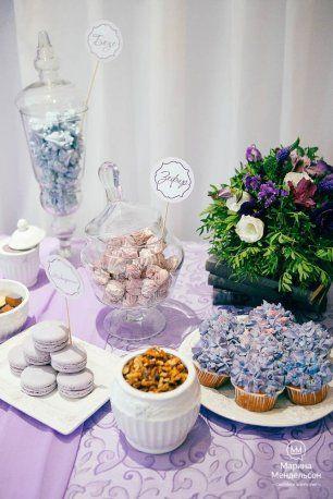Сладкий стол в фиолетовой гамме