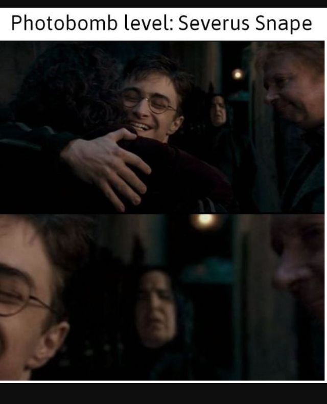Snape Is The Best Photo Bomber I Ve Ever Seen Now Control Your Emotions Over This Harry Potter Severus Snape Snape Harry Potter Harry Potter Severus