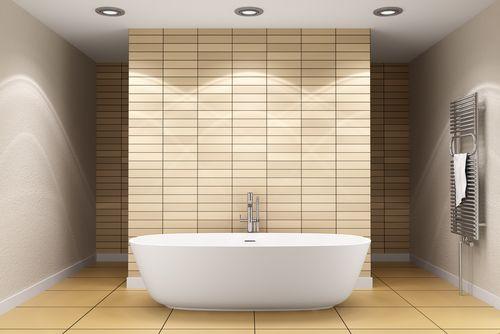 Badezimmer Modern Beige