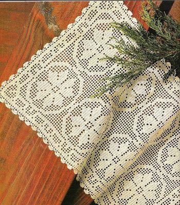 Meus tesouros: Caminho Floral em croche file