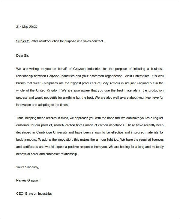 Write Self Introduction Letter For
