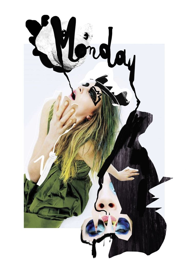 Mixed Media Fashion Collage by Rebecca Coltorti | Cara Delevingne