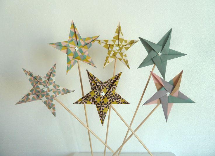 71 best images about d coration de table en origami f te for Deco table rose et noir