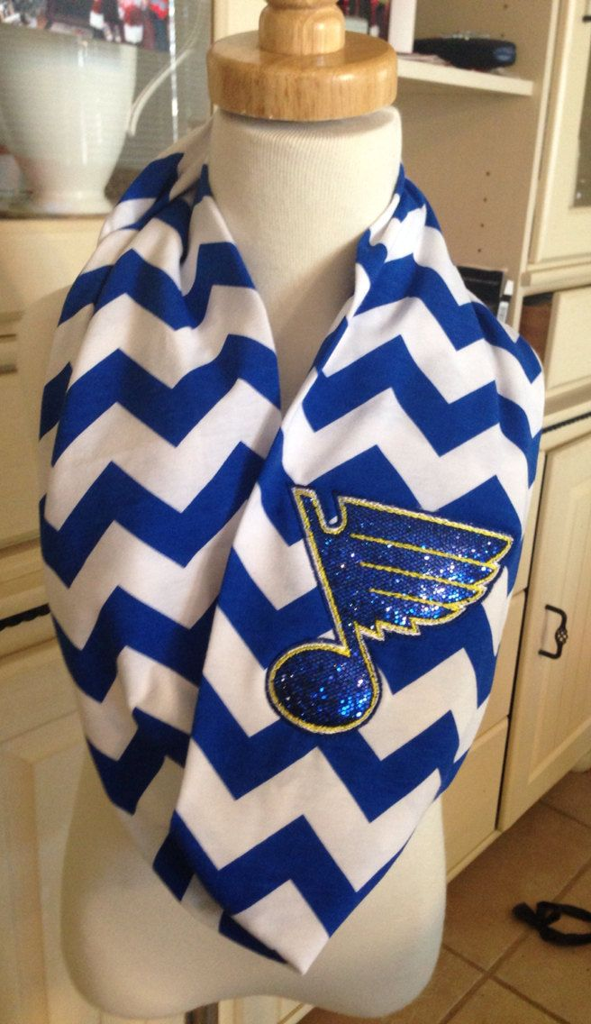 Pre-Order!!! STL Blues Inspired Sparkly Infinity Scarf, STL Blues, St Louis Blues, Blues Hockey, Blues Birthday Present, Blues Lover by BumpsnRoo on Etsy