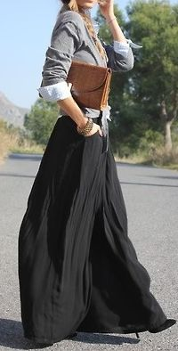 Work worthy maxi outfit, love!