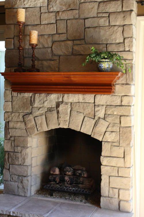 cobble stone veneer 024 - Steinplatte Kamin Surround