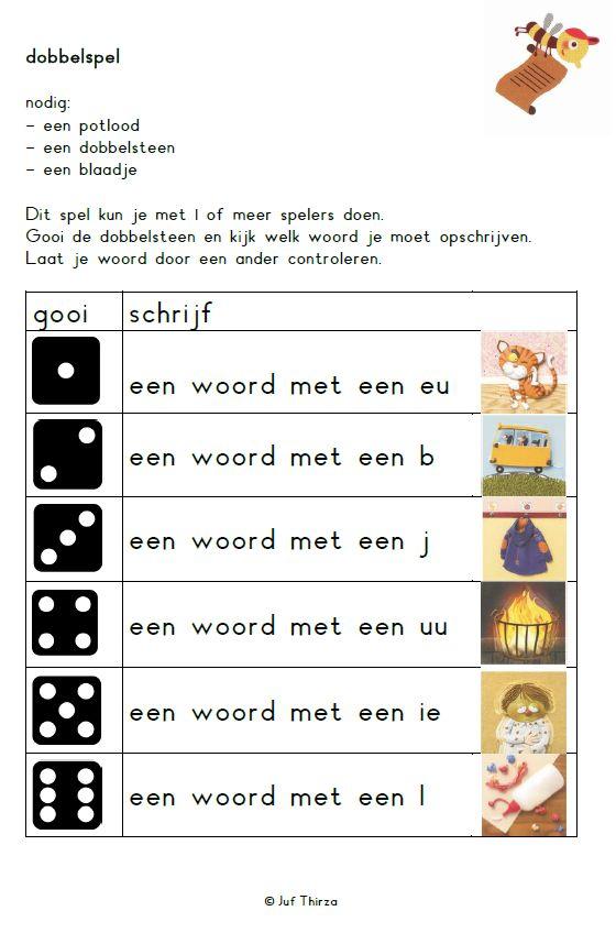 Een schrijfspelletje met dank aan jufthirza.nl OB