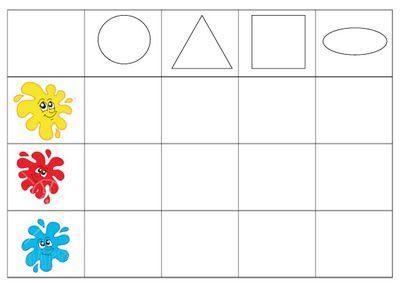 dreamskindergarten Το νηπιαγωγείο που ονειρεύομαι !: Πίνακες διπλής εισόδου με χρώματα και σχήματα