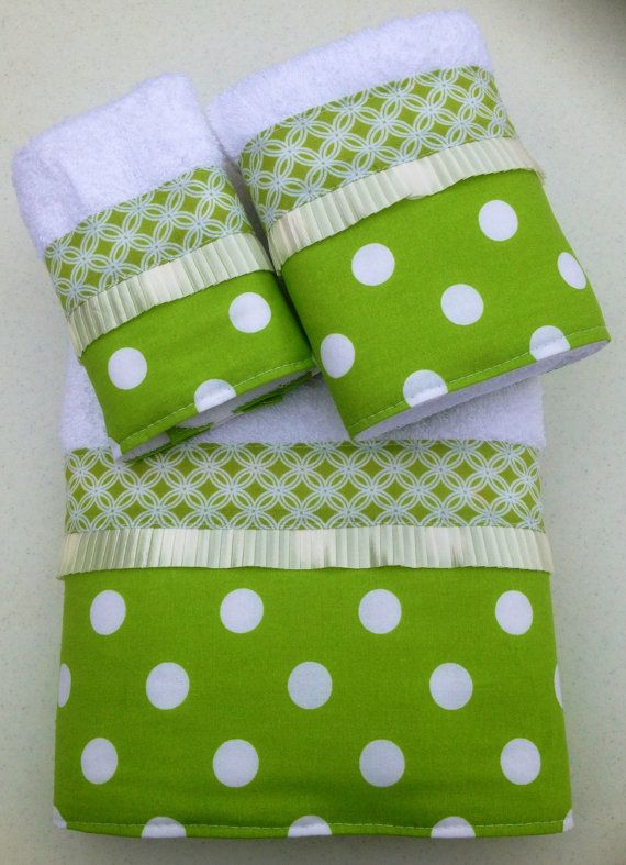 Lime Green and White Polka Dot and Linked by www.ladydiblankets.etsy.com, $59.99