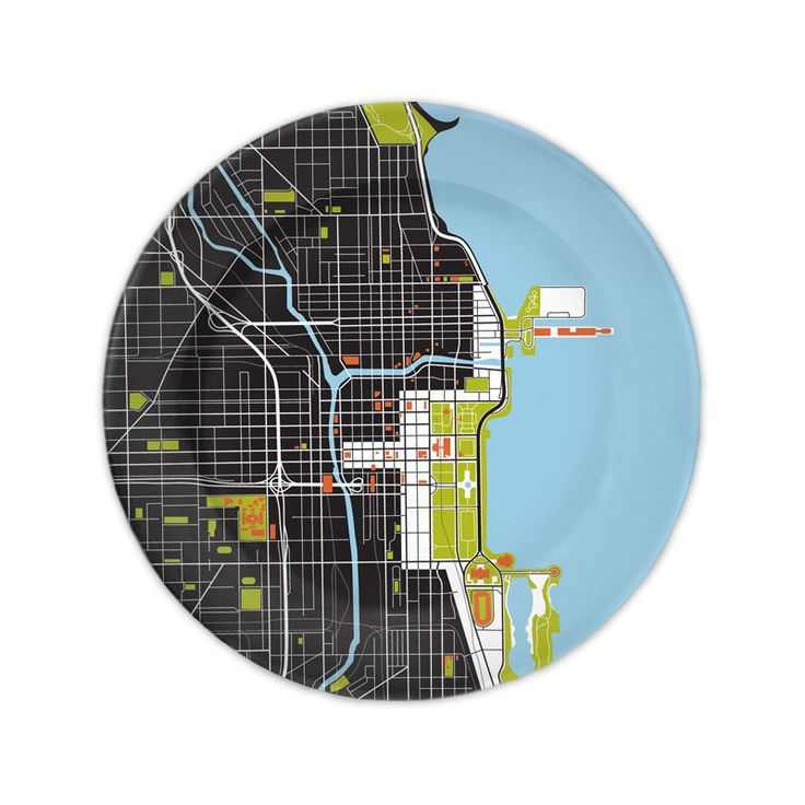 Chicago Map Grid%0A Chicago City Map Plate