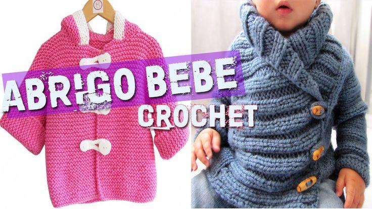 Abrigos y Sueter para bebe tejidos en crochet o ganchillo. Visita mi web con Revistas y Patrones aqui http://tejidosymodacrochet.blogspot.com ---------------...
