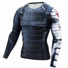 New Superhero Winter Soldier Bucky Anime 3D T Shirt Fitness Men Crossfit T-Shirt Long Sleeve Compression Shirt //Price: $US $7.12 & FREE Shipping //