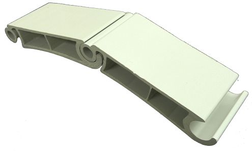 extruded plastic hinge part