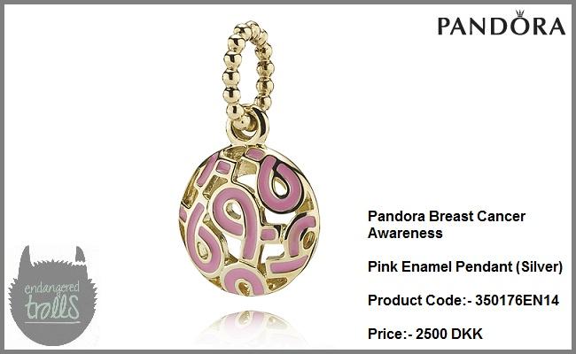 Pandora Breast Cancer Awareness Pink Enamel Pendant (Gold)