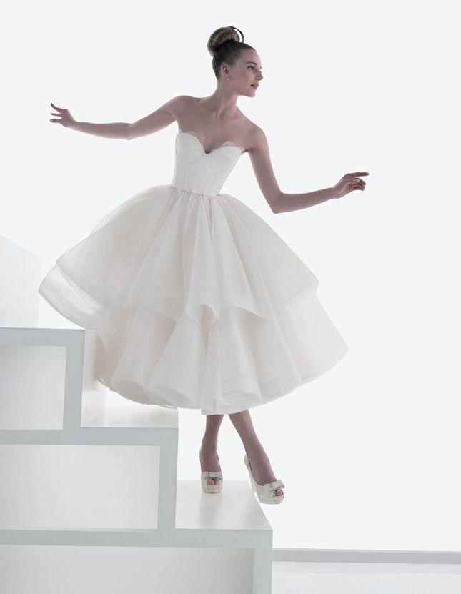 {Wedding Trends} : Tea-Length Bridal Gowns | bellethemagazine.com