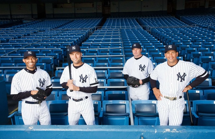 Mariano Rivera, Derek Jeter, Roger Clemens, Alex Rodriguez, taken by James Petrozzello