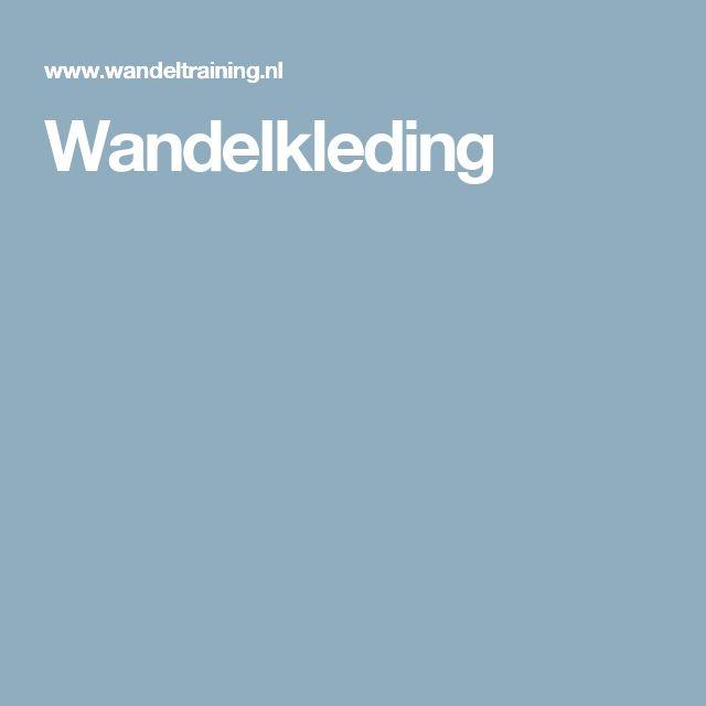 Wandelkleding