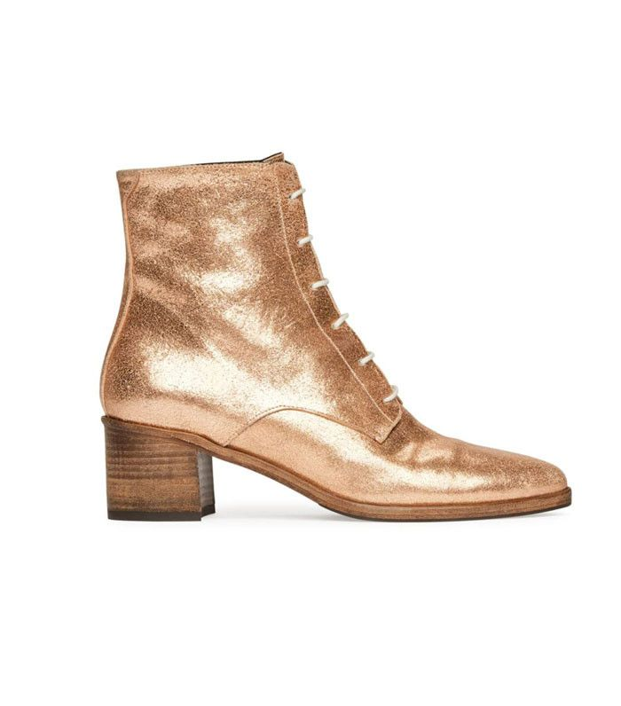 The Coolest Rose-Gold Ankle Boots to Obsess Over via @WhoWhatWear