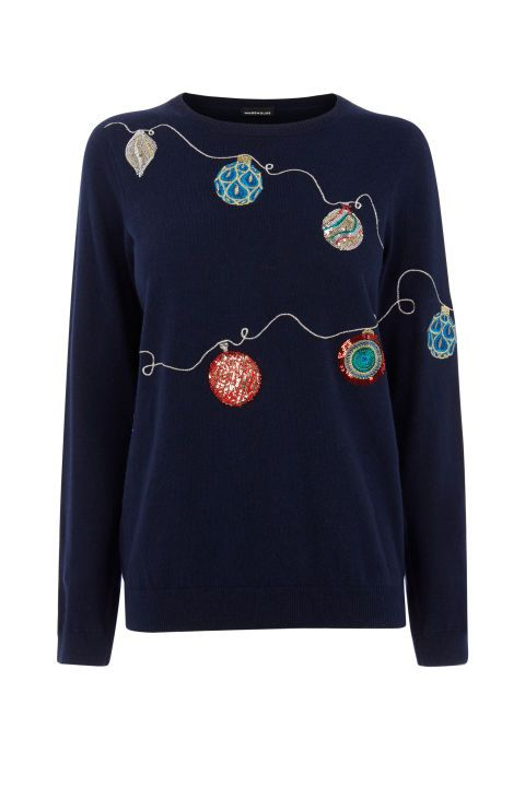 Bauble Jumper, £46, Warehouse                                                                                                                                                                                 More
