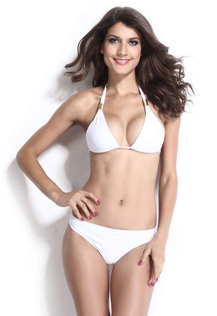 Prix: €10.65 Bikini Maillots De Bain Femme Hardware Accessoirise Push Up Halter Blanc Modebuy.com @Modebuy #Modebuy #Blanc #me #sexy #robes #following #lingerie #commentback #instagood #dress #basprix #purse #Acheter #modebuyct1 #tagsforlikes