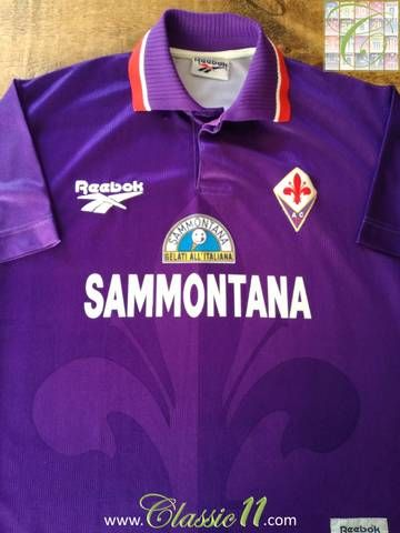 fe9be6b81b0 Official Reebok Fiorentina home football shirt from the 1995/96 season.