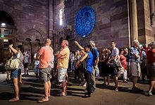 Sylvie Lander - Ex tempore - tondo de verre - Horloge astronomique de Strasbourg — Wikipédia