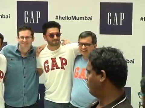 Ranveer Singh Gap First Store Launch