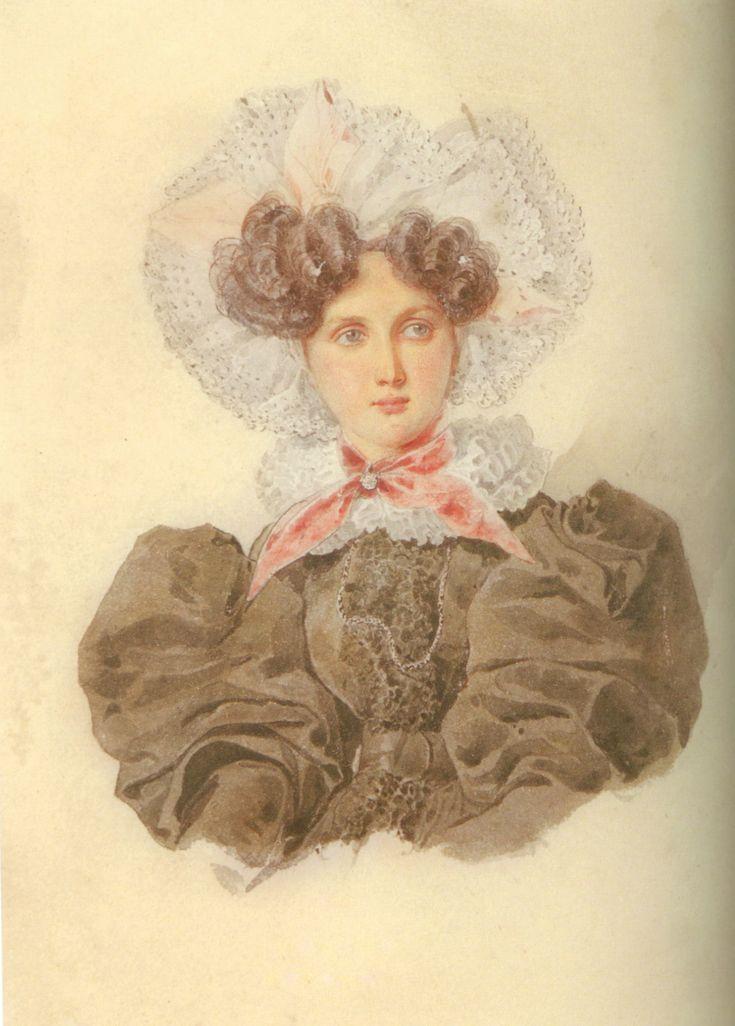 Ольга Павловна Ферзен (1808-1837) ур. Строганова Alexander Brullov 1830-е