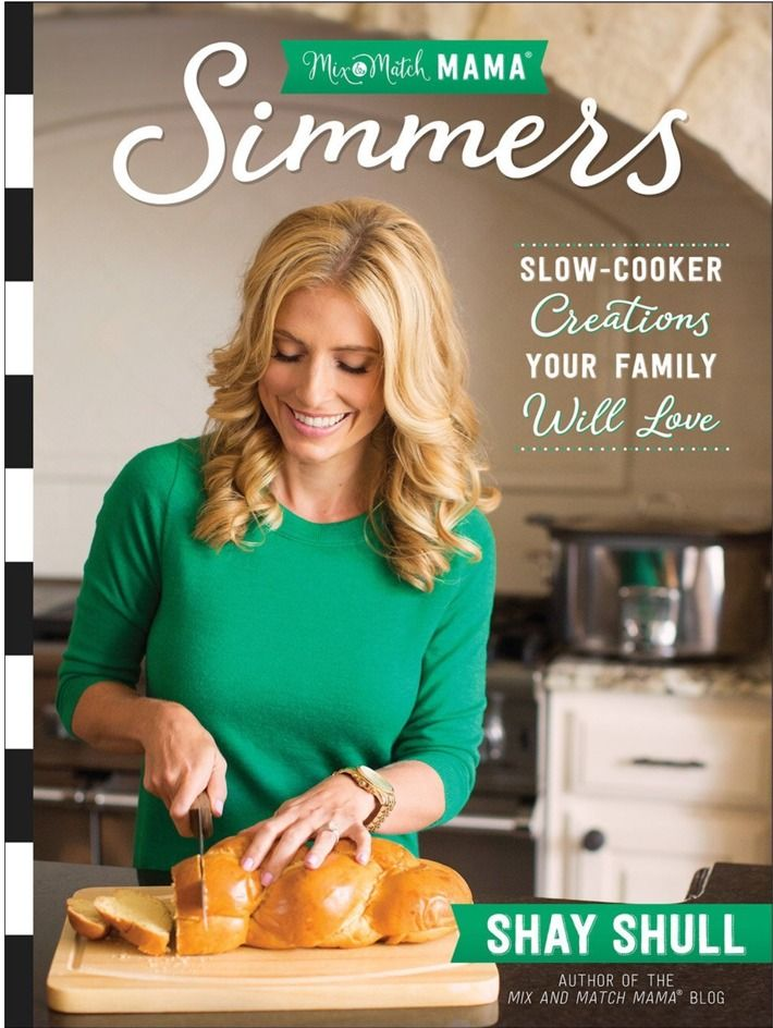 Simmers!  This cookbook is filled with yummy slow cooker recipes!