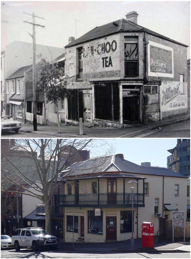 Corner of Harris & Scott streets, Pyrmont 1978 > 2016. [City of Sydney archives > Kevin Sundgren. By Kevin Sundgren]