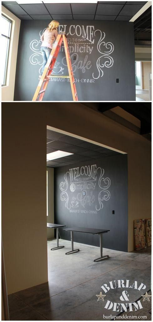 Easy Tutorial for creating Giant Chalk Art... I need to do this on my chalkboard wall; I don't want a chalkboard wall this huge just yet, but something would be cool =)