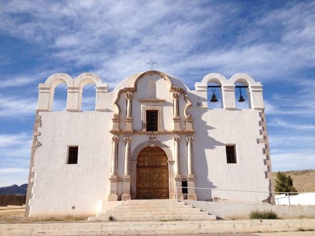 Antigua misión de Santa Ana de Chinarras en las cercanías de Aldama, Chihuahua. Foto: Battroid (CC-BY-SA 4.0)