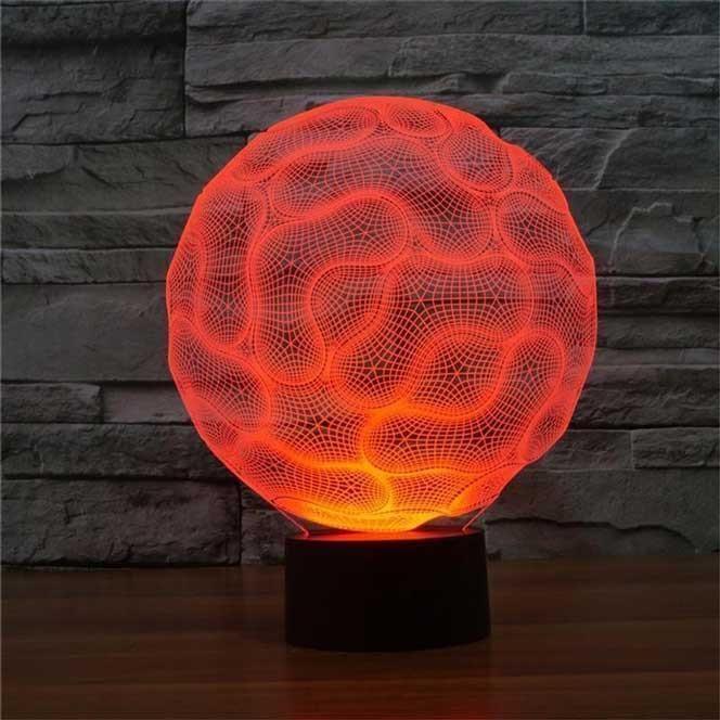 Brain 3d Illusion Led Lamp 3d Lamps 3d Lights Night Light Lite Beast Best 3d Lamps Led Color Round Lamp Lamp