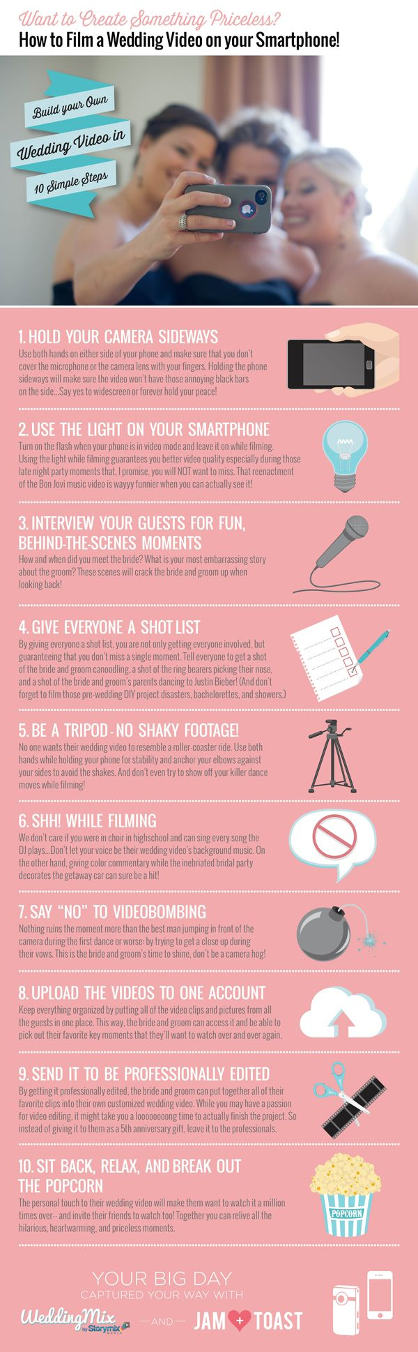 98% of brides regret not getting a wedding video. With these tips, you can get a wedding video w/o breaking the bank.  read more