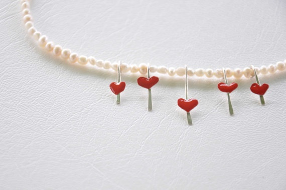 Handmade jewelry Close to neck necklace tiny handmade by zOOzART, $33.00