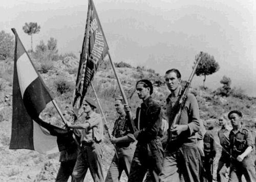 Volunteers of the XV International Brigade, unknown location, 1937.