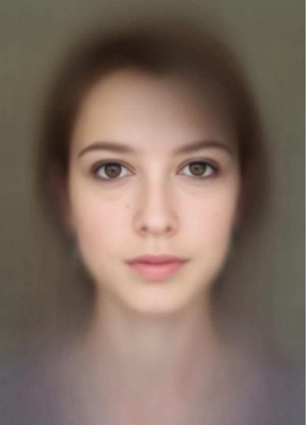 Composite Photograph Made from 500 Self Portraits