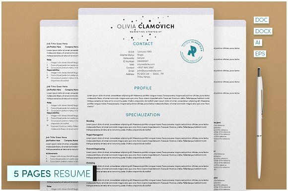5 Page Resume Template @creativework247