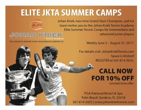 Summer is just around the corner and so are our summer camps! Call now and get 10% off for our elite JKTA summer camp training! We also offer Beginner, Quick Start and Adult summer training! Call now: 561.814.3655. Limited time offer/Space limited #JohanKriekTennisAcademy #JKTA #tennis #summercamps #elitetennisacademy #PGANationalResortandSpa #PalmBeachGardens #Florida #JohanKriek #trainingwithrealchampions