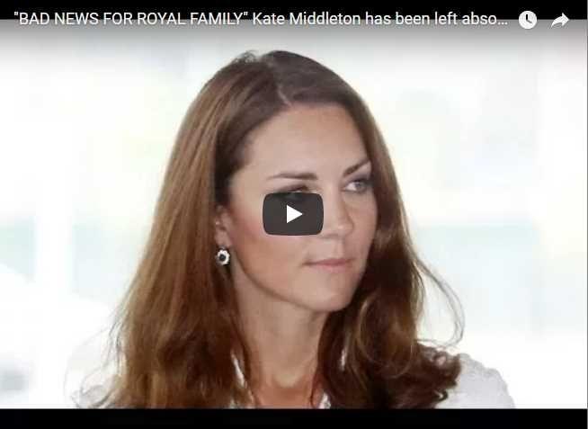 "BAD NEWS FOR ROYAL FAMILY"" Kate Middleton has been left"