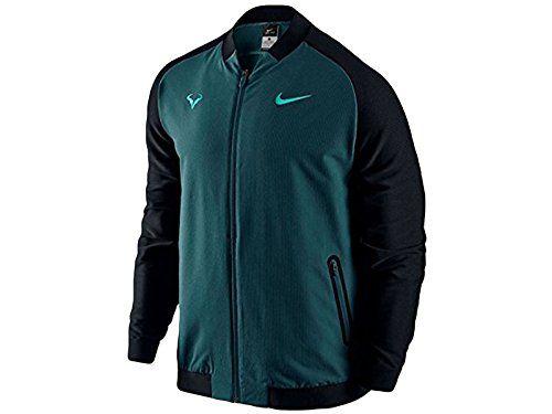 Men's Nike Premier Rafael Nadal Tennis Jacket Midnight Turquoise 728986-346 (L)