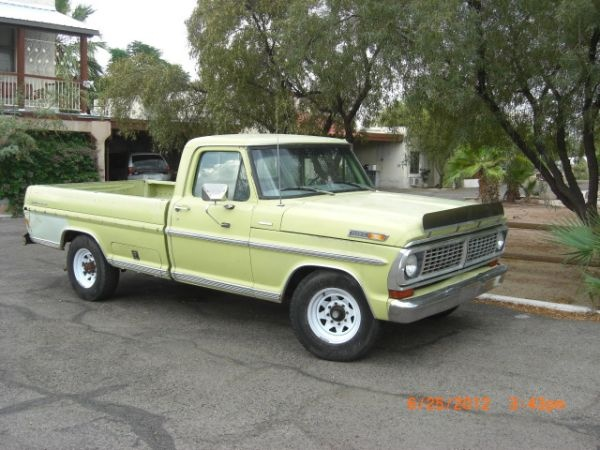 1970 ford f250 truck 8 ft bed