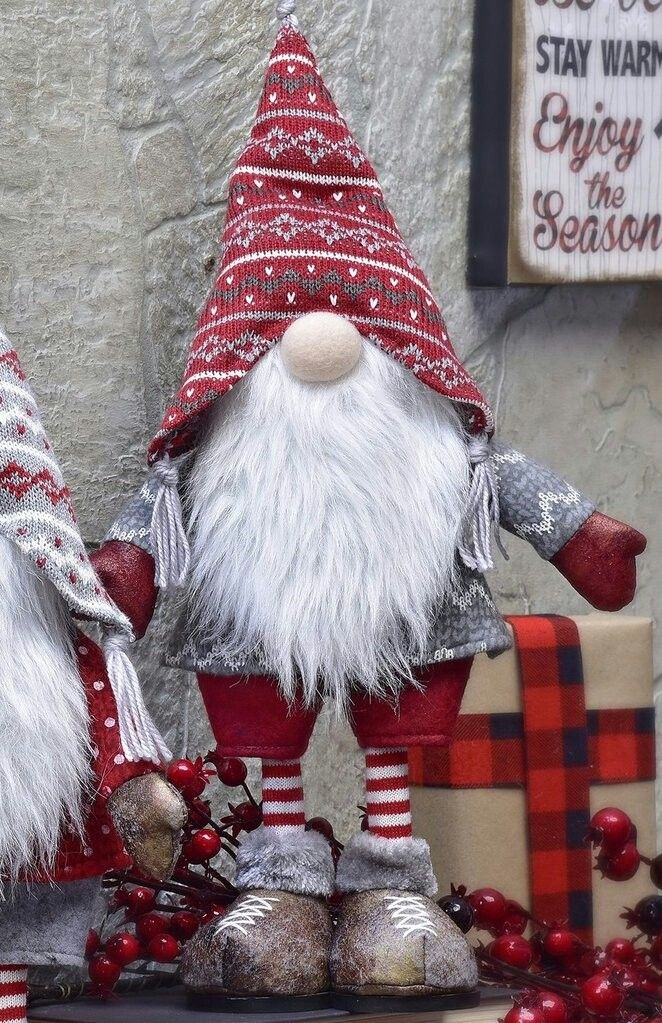 Christmas Gnome.Standing Gnome He D Be So Cute Holding Some Skis