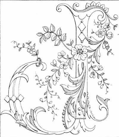Resultado de imagen de letras pintadas con hojas y flores
