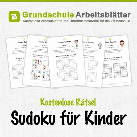 Kostenlose Sudoku-Rätsel für Kinder.