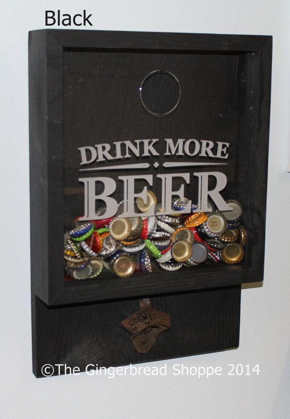 SALE/Drink more BEER/Bottle Cap by GingerbreadEngraved on Etsy