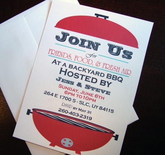 DIY Printable BBQ Invitation by Mangotreepaper on Etsy, $15.00