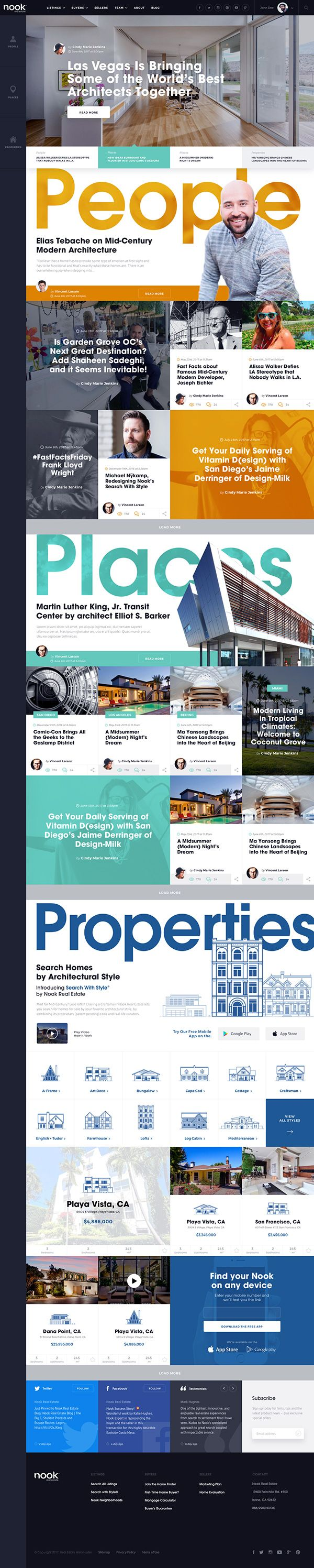Homepage Design Concept for a Modern Architecture & Design Blog